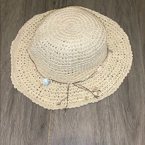 Woven beach hat- Sadly, never worn